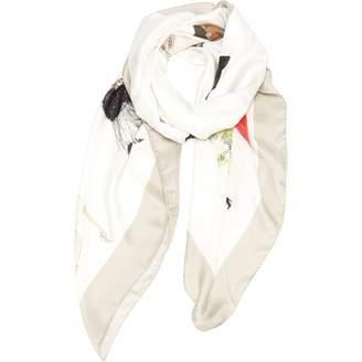 Giorgio Armani White Silk Scarves