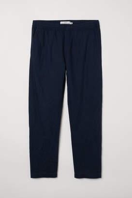 H&M Linen-blend Pants - Blue