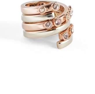 St. John Collectors Swarovski Crystal Twisting Rings