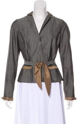 Paule Ka Striped Button-Up Jacket