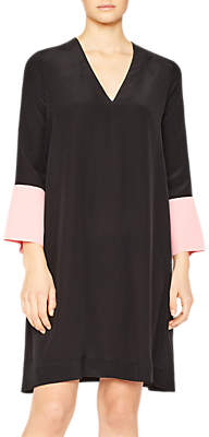 Paul Smith Silk Swing Dress, Black/Pink