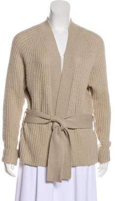 Totême Long Sleeve Merino Wool & Camel-Blend Cardigan