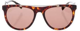 Versace Round Tortoiseshell Sunglasses