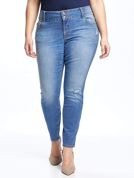 Old NavyHigh-Rise Built-In Sculpt Plus-Size Distressed Rockstar Jeans