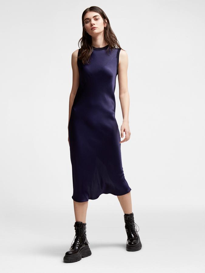 DKNYSatin Midi Dress
