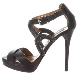 Ralph Lauren Collection Crossover Platform Sandals