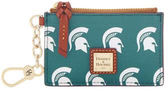 Dooney & Bourke Michigan State Spartans Zip Top Card Case
