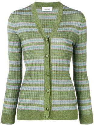 Courreges stripe fitted cardigan