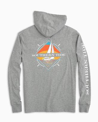 Southern Tide Southern Sailboat Long Sleeve Hoodie T-shirt