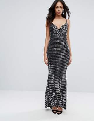Jessica Wright Metallic Maxi Cami Dress