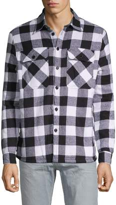 Vstr Premium Checked Faux Shearling-Lined Cotton Jacket