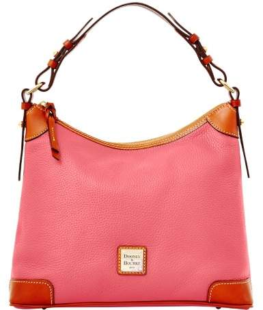 Dooney & Bourke Pebble Grain Hobo Shoulder Bag - BUBBLE GUM - STYLE