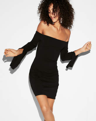 Express Off The Shoulder Sheath Dress