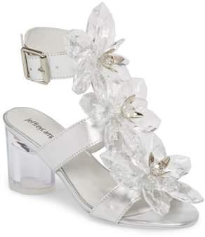 Jeffrey Campbell Violit Embellished Floral Sandal