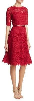 Teri Jon by Rickie Freeman Lace Flared Dress