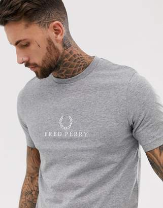 Fred Perry embroidered logo t-shirt in gray