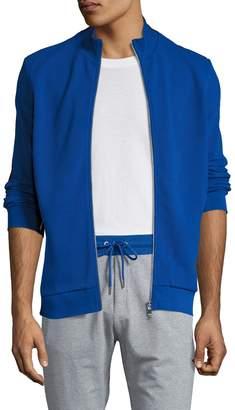Bikkembergs Men's Cotton Colorblock Zip Front Sweatshirt
