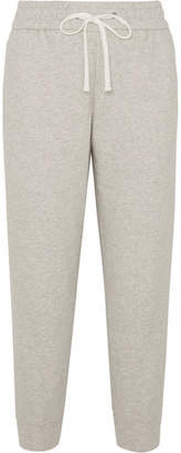 James Perse Cropped Cotton-jersey Track Pants - Gray