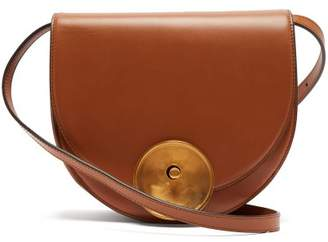Marni Monile Leather Saddle Cross Body Bag - Womens - Tan