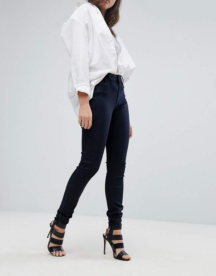 G-Star – G-Heart – Superenge Jeans mit hohem Bund