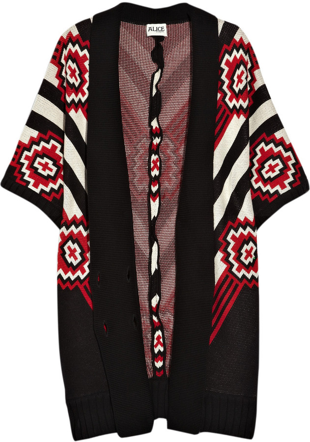 ALICE by Temperley Chara cotton oversized cardigan