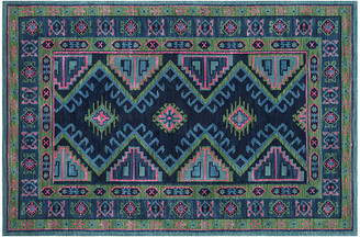 One Kings Lane Taylor Kids' Rug - Navy/Hot Pink