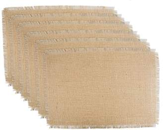 DII 100% Jute Rustic Vintage Placemat for Parties BBQ's Everyday & Holidays Use (Set of 6)
