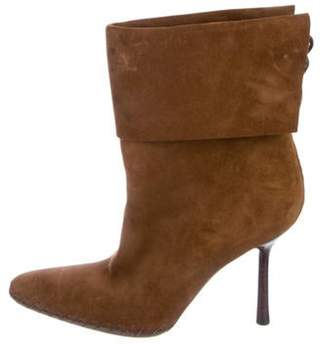 Gucci Suede Ankle Boots Brown Suede Ankle Boots