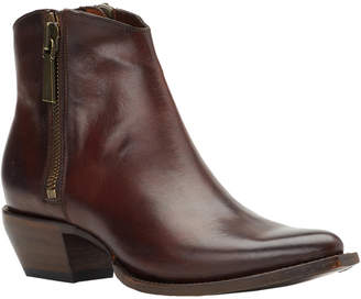 Frye Sacha Zip Leather Bootie