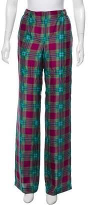Alberta Ferretti Silk High-Rise Wide-Leg Pants w/ Tags
