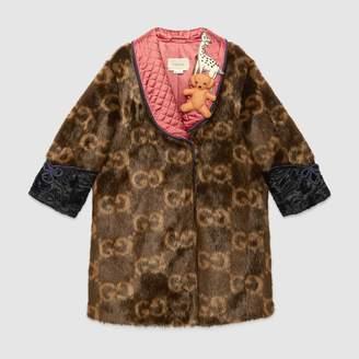 Gucci Children's GG faux fur coat
