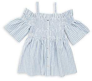 9b4e2cbb7e78cc Habitual Girl's Enza Striped Smocked Cold-Shoulder Top