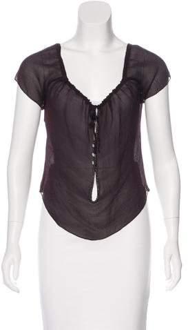 Chanel Silk Short Sleeve Top