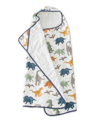 Little Unicorn Dino Friends Cotton Muslin Big Kid Hooded Towel