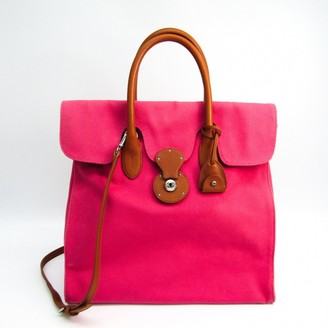 Ralph Lauren Ricky Pink Leather Handbags