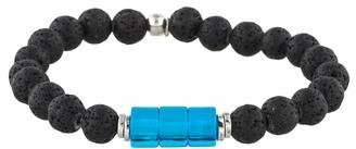 Tateossian Crystal & Lava Bead Bracelet