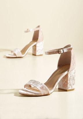 Have the Upper Grande Velvet Heel in Blush in 6.5 $23.99 thestylecure.com