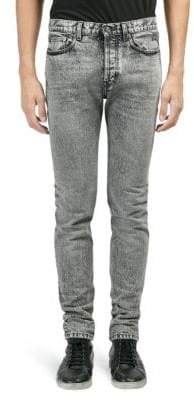 Saint Laurent Snow Washed Skinny Jeans