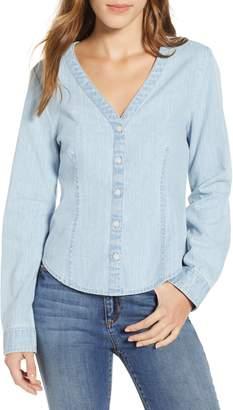 BP V-Neck Chambray Shirt