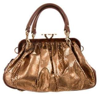 Marc Jacobs Metallic Snakeskin Stam Bag