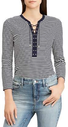 Ralph Lauren Striped Lace-Up Tee