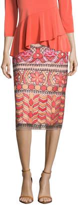 5twelve Embroidered Midi Pencil Skirt