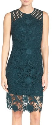Women's Vera Wang Lace Sheath Dress $278 thestylecure.com
