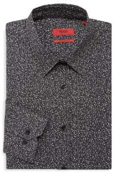 HUGO BOSS Confetti-Dot Collar Shirt