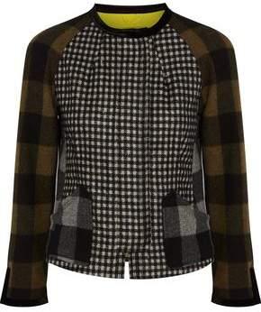 Etro Paneled Checked Wool-Blend Felt Jacket