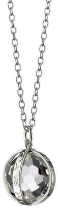 "Monica Rich Kosann Small Sterling Silver ""Carpe Diem"" Charm Necklace, 30""L"