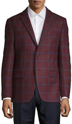 MICHAEL Michael Kors Windowpane Wool Jacket