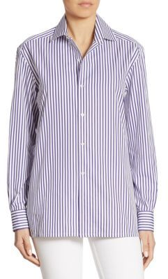 Ralph Lauren Collection Capri Striped Shirt $590 thestylecure.com