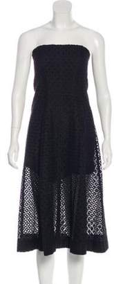 Stella McCartney Strapless Eyelet Dress Black Strapless Eyelet Dress
