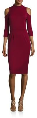 Black Halo Cold Shoulder Sheath Dress $345 thestylecure.com